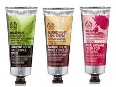 Skin! Try one of The Body Shop's best-selling hand creams and have irresistibly soft hands!