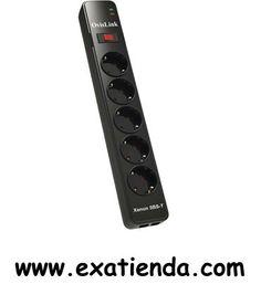 Ya disponible Regleta Ovislink 5 tomas con protector de corriente   (por sólo 15.99 € IVA incluído):   -Un gran porcentaje en el fallo de dispositivos electrónicos, se debe a irregularidades del suministro eléctrico. Evita que tus equipos multimedia puedan estropearse debido a picos de tensión o rayos. -Potencia:250 V · 10 A · Max. 2500 W -Corriente máxima:4500 A -Flujo entre polos:175 J -Tiempo de respuesta:menor que 1 ns -Fusible:10 A / 250 V -Tipo de enchufe:Schu
