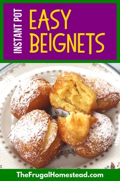 These cheater Easy 3-Ingredient Beignets allow you to have New Orleans-Style Beignets without leaving the comfort of your home! If you've never enjoyed soft and pillowy fried Beignets before, you're in for a treat. This simple recipe only requires 3 ingredients and only takes 10 minutes of time - the perfect weekday or weekend recipe! Healthy Dessert Recipes, Fun Desserts, Real Food Recipes, Breakfast Recipes, Weekend Recipe, Apple Dump Cakes, Cheater, Rice Krispie Treats, Beignets