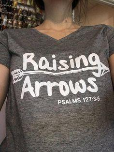 68c03af1 Raising arrows t-shirt v-neck or crew neck- Christian women t-shirts