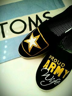 At a price no army wife can afford I think DIY yes @cHeLsEa P.  Army Wife Toms by TresFancy on Etsy, $92.00