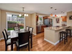 tri Level Home Kitchen Remodel | kitchen wall removed in tri-level home (mid entry, split level, tri ...