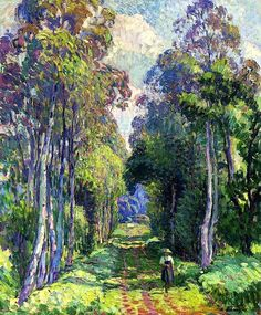 Pierrefonds, a Walk in the Forest - Henri Lebasque ~1907
