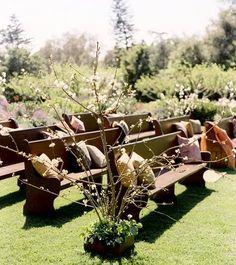 Wedding Ideas: church-pew-wedding-ceremony. Rocky Mountain wedding
