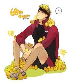 68알티 감사합니당^ㅁ^)9 우시지마로했슴니당허허.. 왠지 잘어울린다.. | Wakatoshi Ushijima Manga Haikyuu, Haikyuu Funny, Haikyuu Fanart, Haikyuu Ships, Manga Anime, Anime Boys, Haikyuu Ushijima, Ushijima Wakatoshi, Kuroo