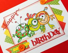 Handmade by Little Megs Cards using Woodware stamps