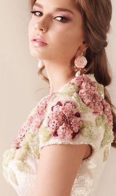 Rami Kadi Dress - hand embroidered  tulle gown