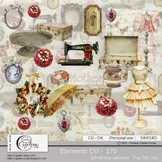 CAJOLINE-SCRAP: Elements CU - 170