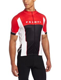 Primal Wear Mens Iso Cycling Jersey Red Black White Medium ** Details can be found by clicking on the image. (Note:Amazon affiliate link)