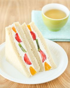 Thirsty For Tea Fruit Sandwiches (Fruit Sando)