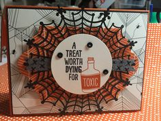 Stampin' Up 2015 Holiday Catalog sneak peak! Stamp set: Sweet Hauntings DSP: Happy Haunting Extras: Spider web doilies and Happy Haunting Washi Tape