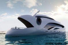 Futurismo sobre el mar. Yate Oculus