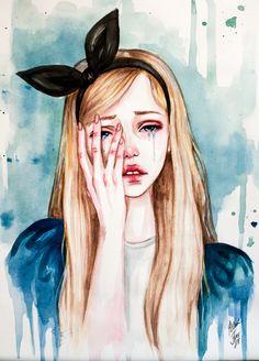 Alice cries by BlackFurya.deviantart.com on @DeviantArt