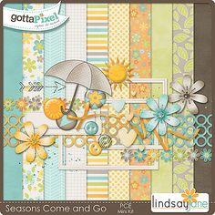Seasons Come and Go Mini Kit :: Pixel Club Exclusives :: Pixel Club :: Gotta Pixel Digital Scrapbook Store