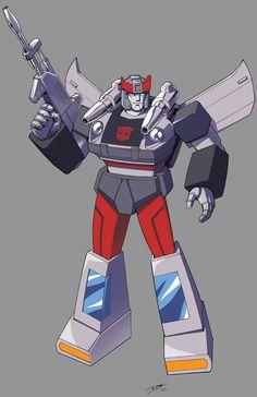G1 Bluestreak in his animated look! Line art by the always fantastic Dan Khanna Colors by me! Transformers (C) Takara Tomy/Hasbro