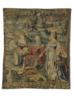"""""""Lot and his daughters"""" Tapestry 16th century.    tapisserie  Numéro d'inventaire :     11276  Création :     Bruxelles, 16e siècle  Matières et techniques :     7 fils de chaîne au cm  Mesures :     H. cm : 195 - L. cm : 165"""