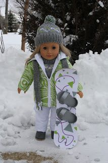 Arts and Crafts for your American Girl Doll: Snowboard for American Girl Doll