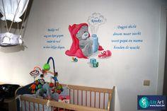 Muurschildering Me To You Bear in babykamer on Lizart http://lizart.be/social-gallery/muurschildering-babykamer