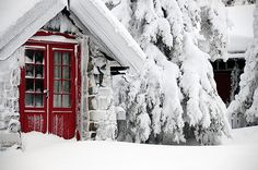 a Norwegian #Cabin... winter #snow