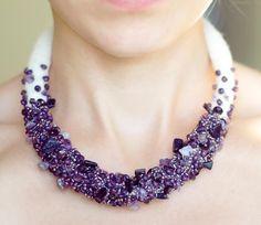 ...bead crochet plus embroidery / surface embellishment...