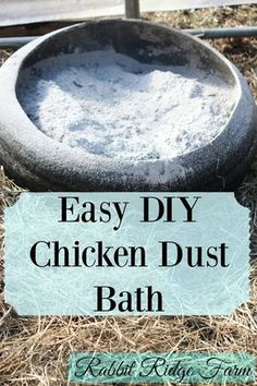 Rabbit Ridge Farm: DIY Chicken Dust Bath - more info in Eight Acres Chicken Tractor eBook