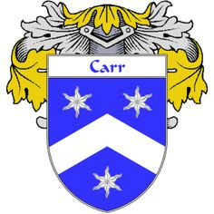 Carr Coat of Arms   namegameshop.com has a wide variety of products with your surname with your coat of arms/family crest, flags and national symbols from England, Ireland, Scotland and Wale