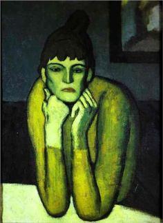 Woman with chignon - Pablo Picasso