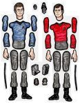 Scotty and McCoy jointed paper doll parts. by MadunTwoSwords