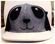 Custom Kawaii Panda Face SnapBack cap/hat on Etsy, $30.00