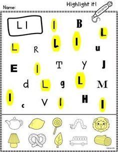 Alphabet Highlight It