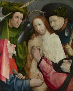 Jheronimus Bosch - Christ Mocked (The Crowning with Thorns) National Gallery Londen.