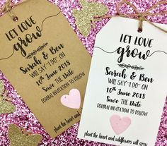 Plantable Confette Seeds Save The Date / Evening Card Wedding Invitation