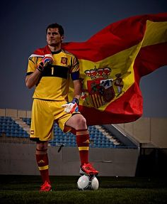 Soccer. Iker Casillas, Spain team goalkeeper , World Soccer Champion, 2010 and European Soccer Champion, 2008 and 2012.