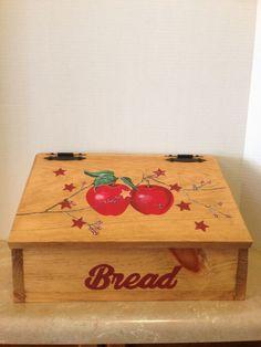 Bread Box, Apple Decor, Apple Kitchen, Primitive Apple Decor, Primitive  Decor,