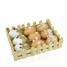 NorthlightSeasonal 9 Piece Jute Burlap Spring Easter Egg Ornament Set