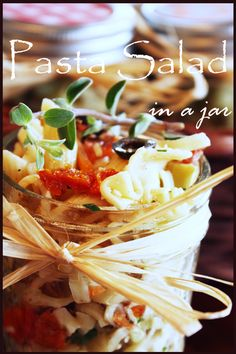 Delicious Pasta IN A JAR! YUMMY!