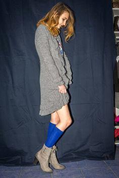 #blue #socks #cardigan