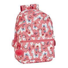 Llama Alpaca Sequin Bag Pink 39cm X 43cm