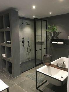 Useful Walk-in Shower Design Ideas For Smaller Bathrooms – Home Dcorz Bathroom Shelf Decor, Bathroom Vanity Makeover, Shiplap Bathroom, Bathroom Goals, Small Bathroom, Bathroom Organization, Bathroom Ideas, Bad Inspiration, Bathroom Inspiration