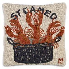 "Lobster - Steamed 18"" Hook Pillow"