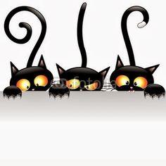 """Black Cats Attack!""  Meooww! !  http://bluedarkart-the-chameleon-art.blogspot.it/2013/10/black-cats-attack.html"