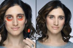 Video: she uses lipstick to hide her dark circles and it works! Diy Beauty, Beauty Makeup, Fashion Beauty, Beauty Hacks, Diy Makeup, Makeup Tips, Gypsy Culture, Makeup Foundation, Dark Circles