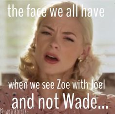 Hart of Dixie #TeamZade - The Zade breakup was pure torture... and I always get this awful feeling when I see her with Joel.