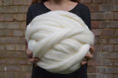Laine brute Roving-16 microns Merino filature textile - 1 lb