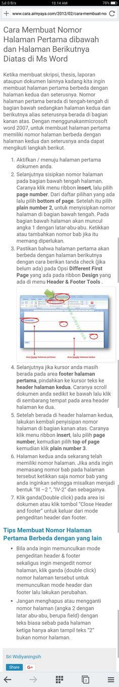 Cara Membuat Header Hanya Pada Halaman Pertama : membuat, header, hanya, halaman, pertama, Menghilangkan, Header, Halaman, Berikutnya