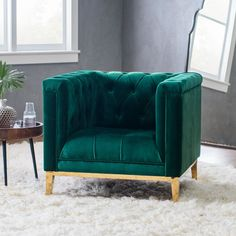 Make a statement with the Belham Living Everly Arm Chair - Green . This chair pairs contemporary design with traditional details for a balanced,. Master Bedroom Furniture Design, Living Room Furniture, Living Room Trends, Living At Home, Sofa Design, Interior Design, Art Deco, Accent Chairs, Green Accent Chair