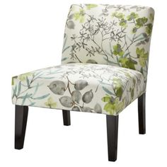 Avington Upholstered Slipper Chair - Gazebo Cloud Floral (Target) (I like the colors in the pattern — gray, brown, spring green, muted teal.)