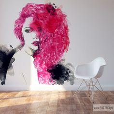 WOMAN: Watercolor pink wallpaper from www.big-trix.pl | #woman #watercolor #pink #wallpaper