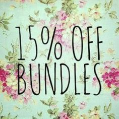 BUNDLE AND SAVE! 15% off bundles of 2 or more, will consider larger discounts if more are purchased! Other