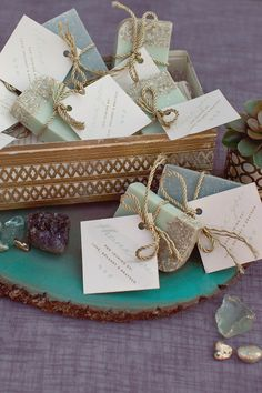 Rock Quarry Inspired Soap with Gold Flecks Party Favors